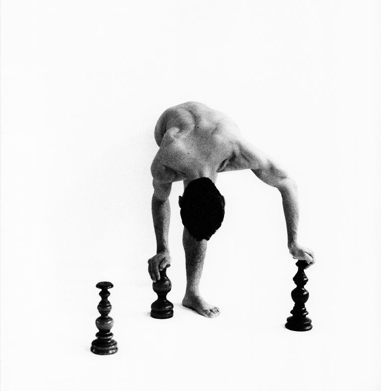 Foto van eenbenige balletdanser